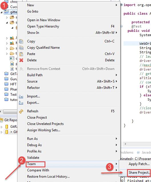 Upload Selenium Script to GitHub