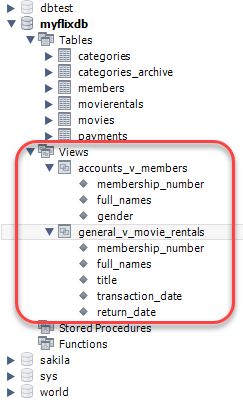 views in mysql tutorial create join drop with examples