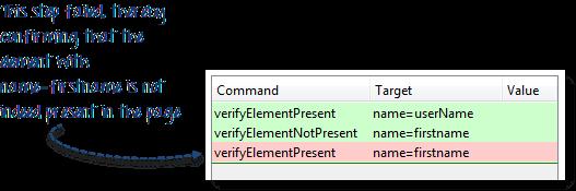 Waits, Verify Element Present/Visible in Selenium IDE