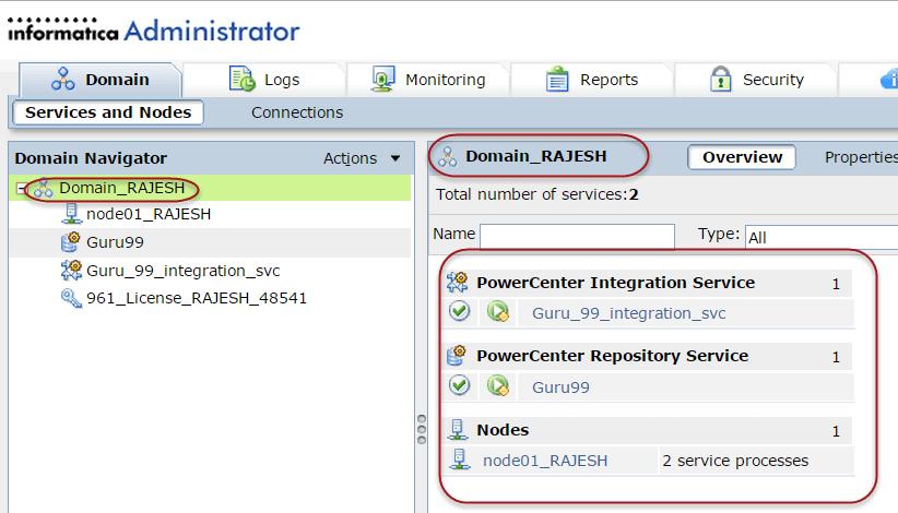 Informatica Domain Configuration