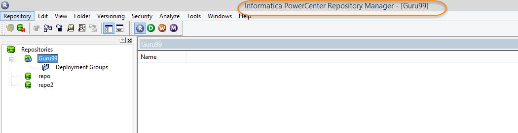 Steps to Create a Folder in Informatica