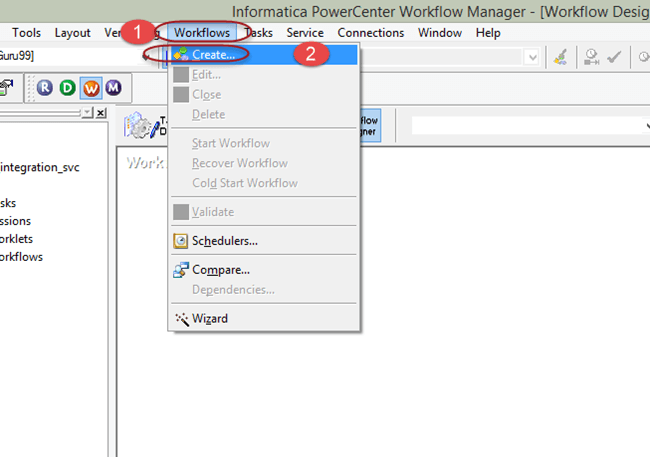Workflow in Informatica: Create, Task, Parameter, Reusable, Manager