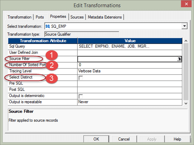 Source Qualifier Transformation in Informatica with EXAMPLE