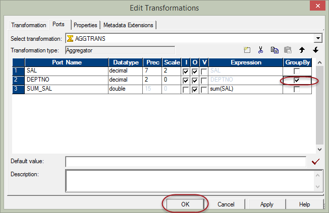 Aggregator Transformation in Informatica with Example