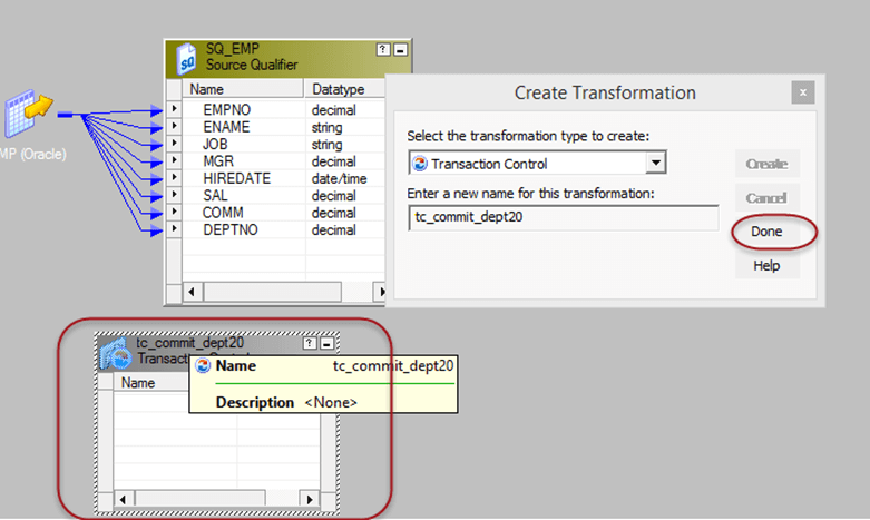 Transaction Control Transformation in Informatica with EXAMPLE