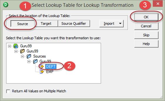 Lookup Transformation in Informatica & Re-usable