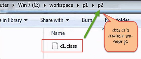 Creating and Using package in Java