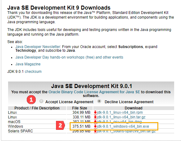 java se 8 download