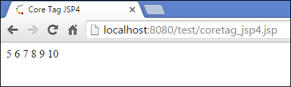 JSP Tag Library - JSTL Core & JSP Custom Tags