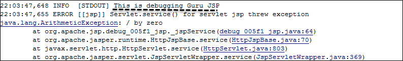 Debug JSP Using Java Logger, Println statements & Debugging tools