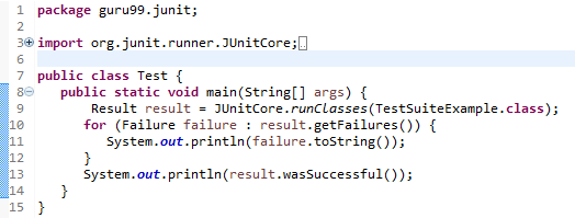 Create JUnit Test Suite with Example: @RunWith @SuiteClasses