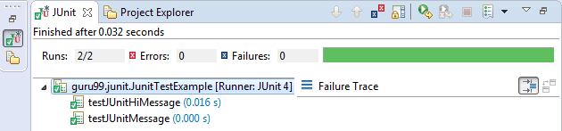 JUnit Exception Test