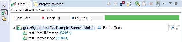 JUnit Exception Test