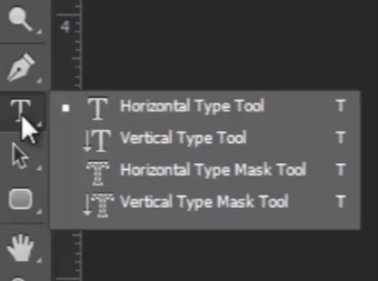 Photoshop text tool