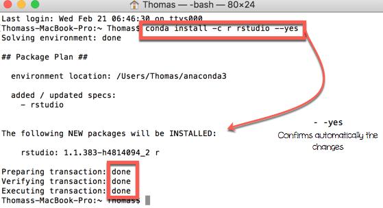Installing RStudio on Mac