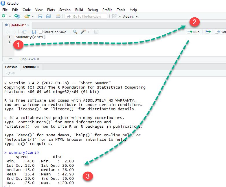 Testing R Script on RStudio