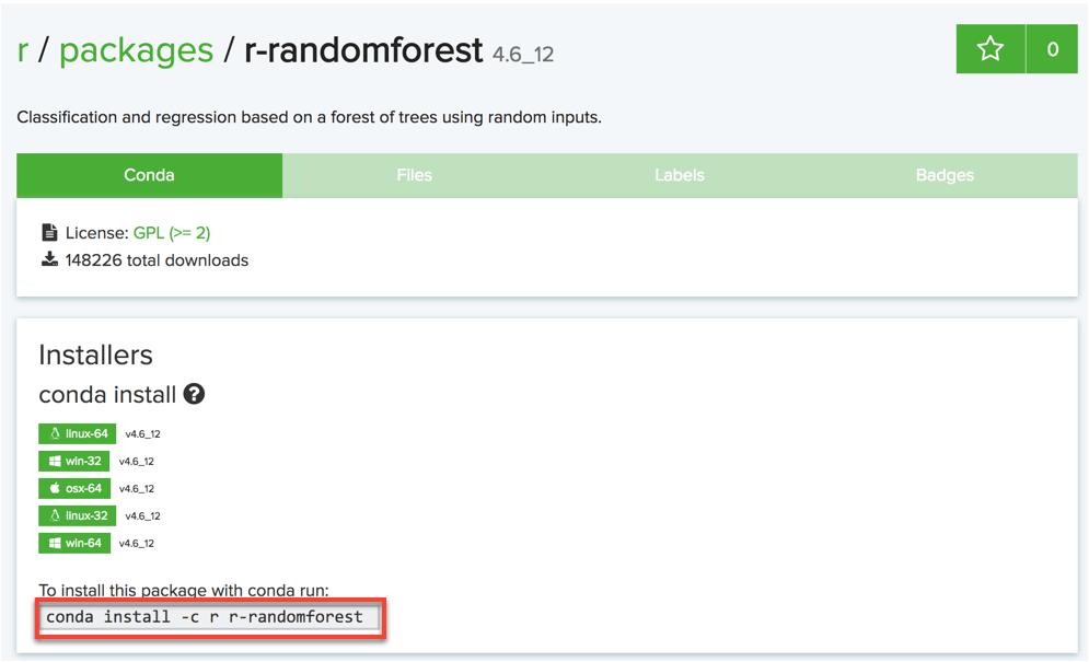 Installing Randomforest R package