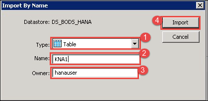 SAP DS (Data Services) in HANA