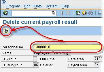 How to Delete Payroll Results in SAP: PU01