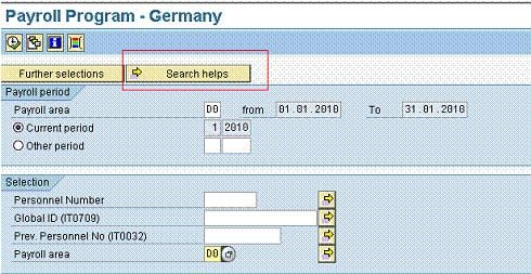 What is Matchcode W in SAP HR?