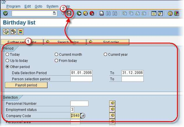 How to use SAP variant