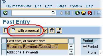 SAP Fast Entry Tutorial: PA70, PA71
