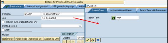 assign cost center to employee sap