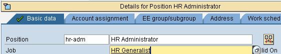 How to assign a Job & Cost Center to a Position in SAP