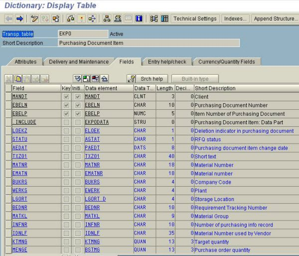 ABAP Data Dictionary Tutorial SE11: Table, Lock Object, View & Structure
