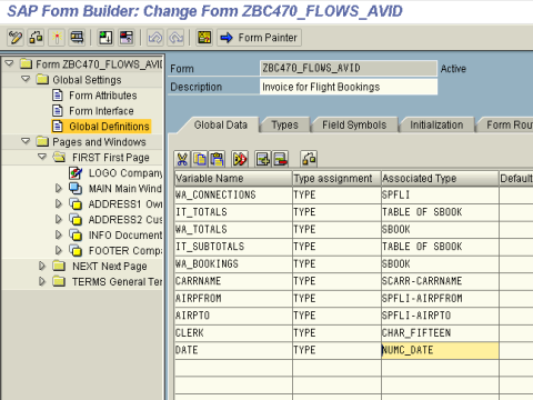 Forms in SAP ABAP