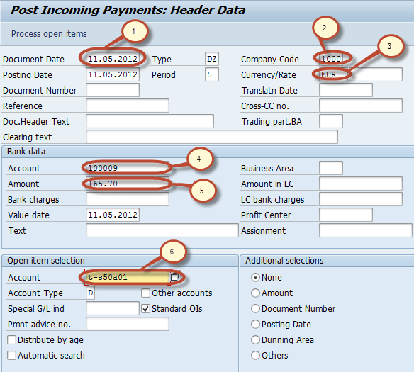 How to post Customer Incoming Payments F-28 in SAP