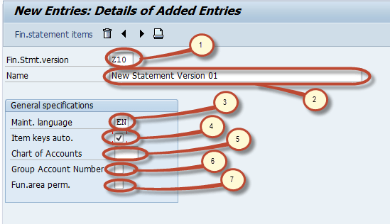 how to create financial statement version fsv in sap