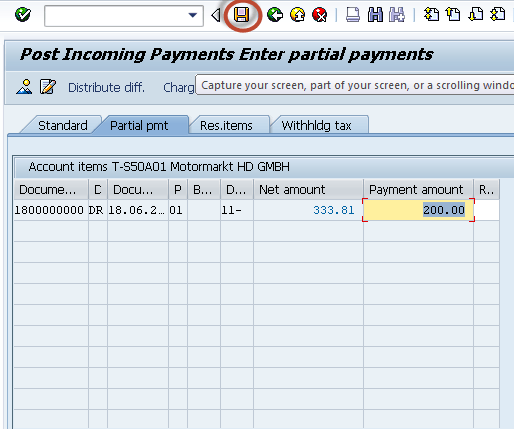 Partial Method: Incoming & Outgoing Partial Payments Posting in SAP