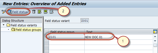 How to Define Field Status Variant & Field Status Group in SAP