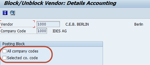 How to Block or Delete a Vendor in SAP FICO