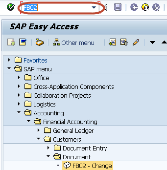 FB02 in SAP: Change Customer Documents Tutorial