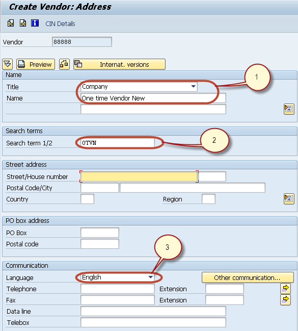 How to Create One Time Vendor FK01 in SAP