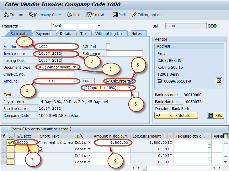 Withholding Tax in SAP during Vendor Invoice & Payment Posting