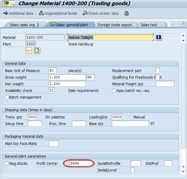 How to assign materials to Profit Center in SAP