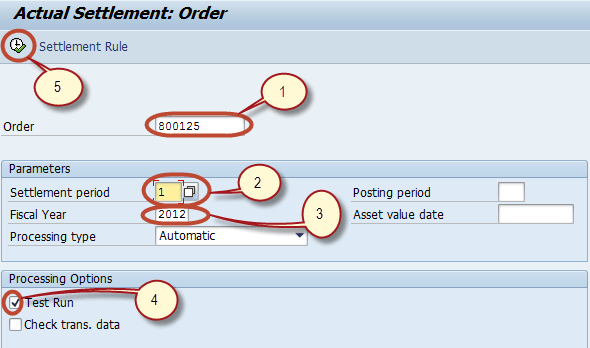 Settlement of Internal Orders Tutorial:  KO02 & KO88 in SAP