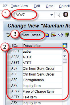 Sap item category determination vov7 vov4 step 2 while you create new item category following sections could be filled malvernweather Image collections