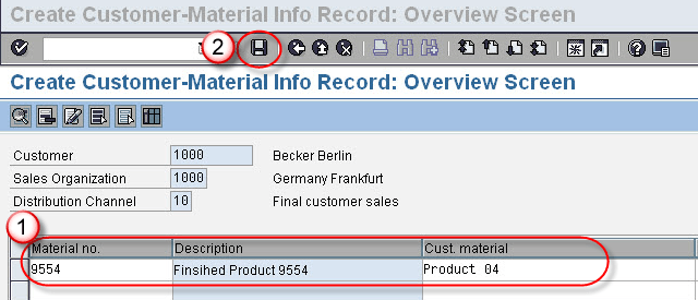 How to Create Customer Material Info Record VD51 in SAP