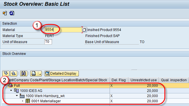MMBE: How to get SAP Stock Overview
