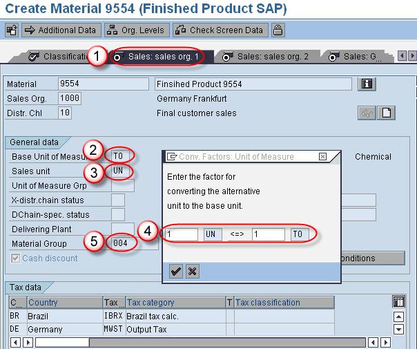 Sap Sd Create Material Master Data