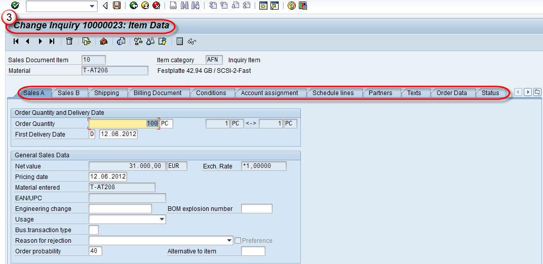 SAP Sales Document Tutorial: VA01, VA02, VA03