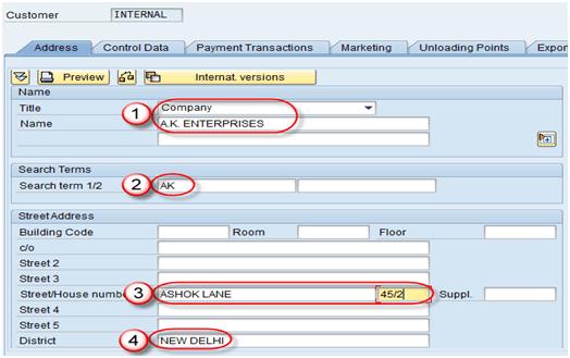 SAP Customer Tcodes ( Transaction Codes )