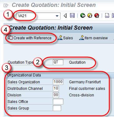 How to Create Quotation: SAP VA21