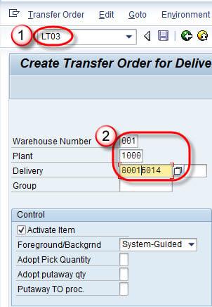 Create Picking, Packing & PGI (Post Goods Issue): SAP LT03