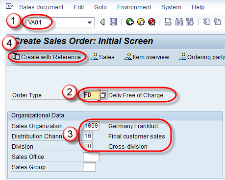 Create Return Order, Free of Charge & Subsequent Delivery