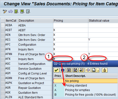 Determine Pricing by Item Category in SAP: OVKO